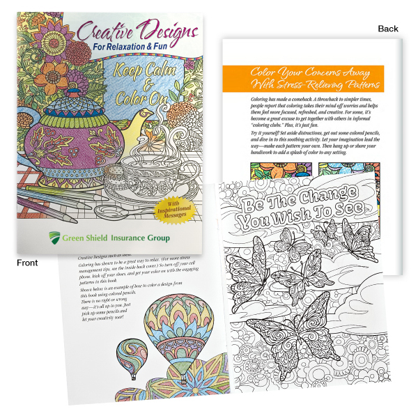 Creative Designs For Relaxation Fun Adult Coloring Book