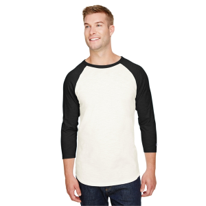 Champion Adult Ringspun Slub Baseball T-Shirt