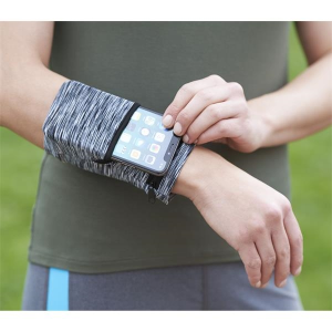 Cooling Heathered Wrist Band with Pocket